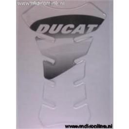 Tankpad transparant met Ducati logo zwart for Ducati