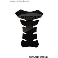 Tankpad zwart met Ducati logo for Ducati